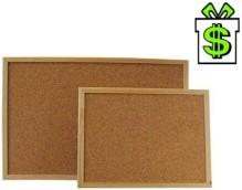 Korková oboustranná nástěnka 60 x 40 cm s dřevěným rámem, nástěnná tabule korek v dřevěném rámu, dřevěný rám