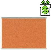 Korková nástěnka s hliníkovým rámem 120 x 90 cm (tabule korek z korku 90 x 120 cm 1200 x 900 mm 100 cm 1000 mm)