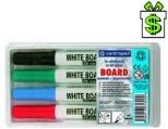 Popisovače 2,5 mm na bílou magnetickou tabuli (Sada popisovačů fixy bílé magnetické tabule Centropen fix 8559 / 4 smazatelné)