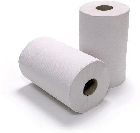 Midi bílé papírové utěrky v roli 65m (velké 2 - vrstvé 100% celuloza ručníky 2V na dvouvrstvé papírová utěrka papírový ručník