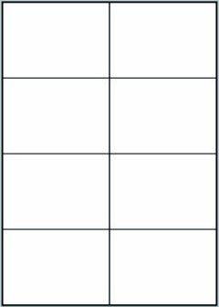 Etikety 8ks na archu A4, 105 x 74 mm, 100 listů, samolepící bílé 800 etiket