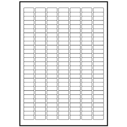 Etikety na archu A4, 25 x 10 mm, 100 listů (100 archů, bílé samolepící 25,4 x 10 mm 2,5 x 1 cm samolepicí)