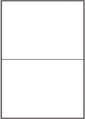 Etikety 2ks na archu A4, 210 x 148 mm, 100 listů