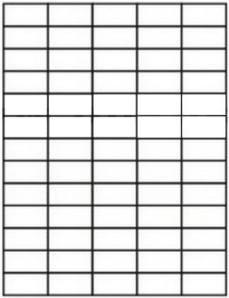 Etikety 65ks na archu A4, 38 x 21.2 mm, 100 listů