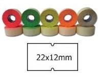 Cenové etikety zelené, 22x12 mm, 1250ks / kotouč