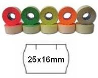Cenové etikety zelené, 25x16 mm, 1100ks / kotouč