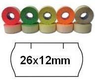 Cenové etikety zelené, 26x12 mm, 1500ks / kotouč