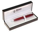 Dárkové kuličkové pero celokovové červené v luxusní kazetě (celokovová dárková červená kovová propiska krabičce kovové)