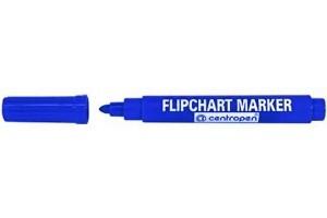 Modrý popisovač 2,5 mm vodní na papír flipchart Centropen 8550 (centrofix popisovače fix modrá fixa fixy značkovač značkovače)