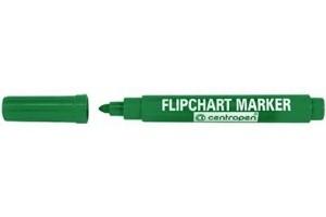 Zelený popisovač 2,5 mm vodní na papír flipchart Centropen 8550 (centrofix popisovače fix zelená fixa fixy značkovač značkovače)