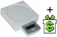 Elektronická digitální váha Skrebba 2000 N do 2 kg, kancelářská