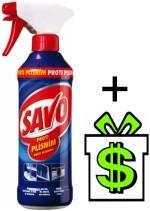 Savo proti plísním s rozprašovačem 500 ml (dezinfekční prostředek na plísně dezinfekce plíseň plísni 0,5 L rozprašovač)