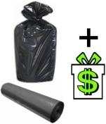 Pytle na odpadky 120 L černé 20 ks (igelitový pytel na odpad igelitové odpadkové sáčky do koše velké odpadkový sáček černý velký