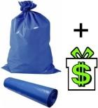 Pytle na odpadky 60 L, návin 28 ks modré, pytel na odpad, odpadkové sáčky do koše, odpadkový sáček modrý