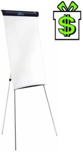 Flipchart NOBO Barracuda nemagnetický (Áčko tabule flip-chart na stojanu nožičkách melamimový melaminový Ačko Á-čko)