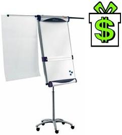 Flipchart NOBO Piranha mobile, Áčko tabule na kolečkách stojanu, flip-chart magnetický mobilní Ačko flip chart Á-čko